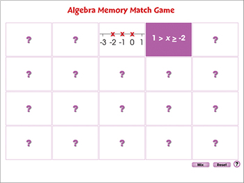 Five Strands of Math: Memory Match Game - NOTEBOOK Gr. 6-8