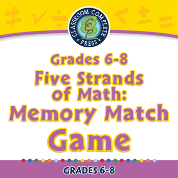 Five Strands of Math: Memory Match Game - PC Gr. 6-8