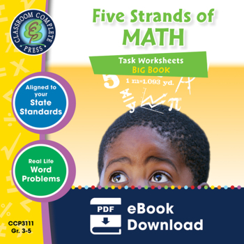 Five Strands of Math - Tasks BIG BOOK - BUNDLE Gr. 3-5