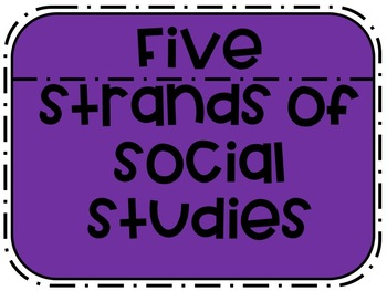 Five Strands of Social Studies Poster