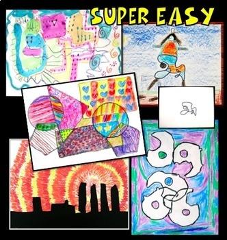 Art Lessons Five Super Easy Activities