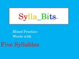 MAP Prep NWEA Reading Five Syllable Words SyllaBits Slideshow Mixed Practice