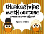Five Thanksgiving Themed Math Centers {Common Core Aligned}