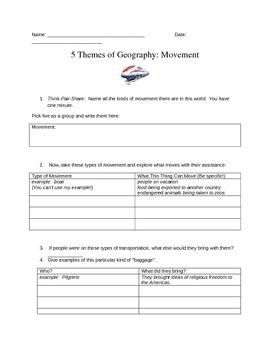 Five Themes: Movement Minilesson