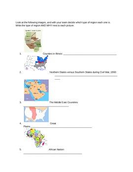 Five Themes: Region Minilesson