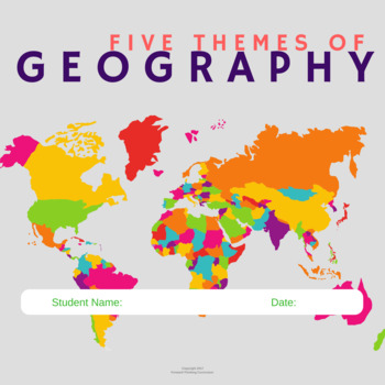 Five Themes of Geography- for Google Drive or Google Classroom