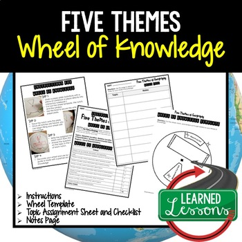 Five Themes of Geography Activity, Wheel of Knowledge (Interactive Notebook)