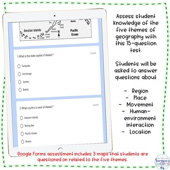 Five Themes of Geography Assessment