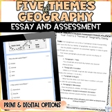 5 Themes of Geography Assessment