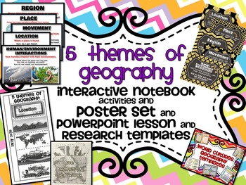 Five Themes of Geography BUNDLE