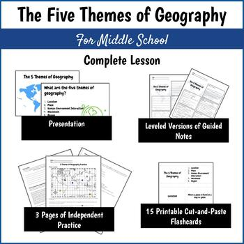 Five Themes of Geography COMPLETE LESSON for Middle School
