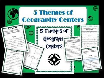 Five Themes of Geography Centers- Editable