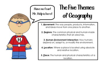 Five Themes of Geography Complete Mini-Unit