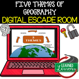 Five Themes of Geography Digital Escape Room, Breakout Roo