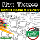 Five Themes of Geography Doodle Notes, Doodle Pages, Geogr