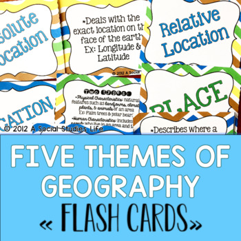 Five Themes of Geography Flash Cards