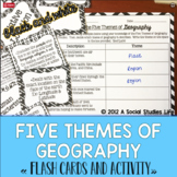 Five Themes of Geography Flash Cards and Activity - Black