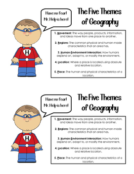 Five Themes of Geography Handout