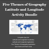 Five Themes of Geography - Latitude and Longitude  Activity Bundle