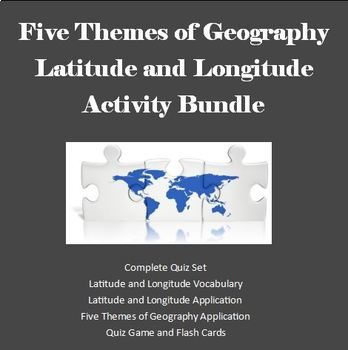 Five Themes of Geography - Latitude and Longitude  Assessm