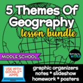 Five Themes of Geography Lesson & Poster Set Word Wall BUNDLE!