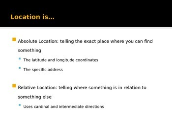 Five Themes of Geography Location and Place