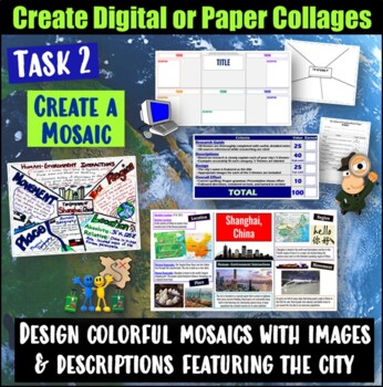 Five Themes of Geography Mosaic Project- World Geography of Major Cities