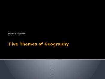 Five Themes of Geography Movement