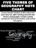 Five Themes of Geography Note Chart