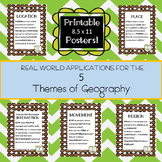 Five Themes of Geography Poster Set - Coffee Edition