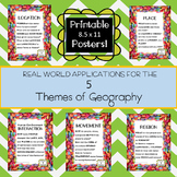 Five Themes of Geography Poster Set - Candy Edition