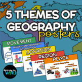 Five Themes of Geography Poster Set   Word Wall