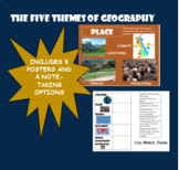 Five Themes of Geography (Posters and 4 Note-taking Activities)
