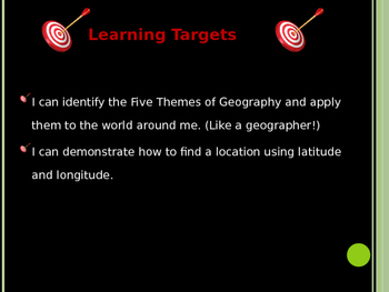 Five Themes of Geography PowerPoint Notes (File 1 of 2)