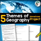Five Themes of Geography - Project about Your Town - FREE