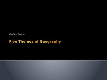 Five Themes of Geography Region
