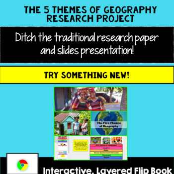 5 Themes of Geography Research Project: Create an Interactive Flip Book!