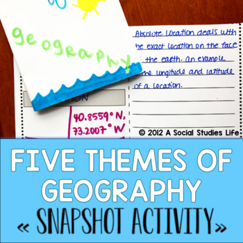 Five Themes of Geography Snapshot Foldable