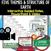 Five Themes of Geography, Structure of Earth Guided Notes