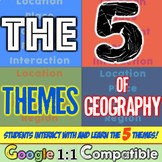 5 Themes of Geography | Explore Five Themes of Geography! Location, Place, More!