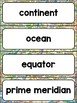 Five Themes of Geography Word Wall