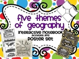 Five Themes of Geography foldable for Interactive Notebooks