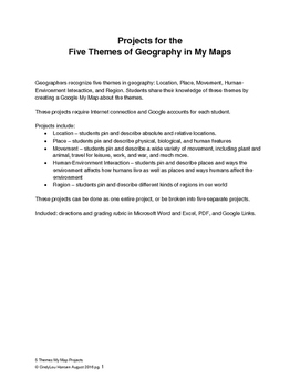 Five Themes of Geography in My Map Project