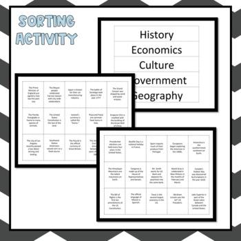 Five Themes of Social Studies Unit