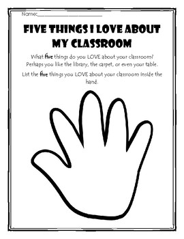 Five Things I Love About My Classroom