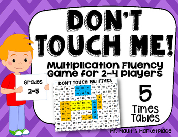 Five Times Tables: Don't Touch Me! Multiplication Fact Fluency Game