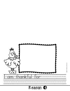 Five Top Reasons I Am Thankful Flipbook {My Monthly FREEBIE}