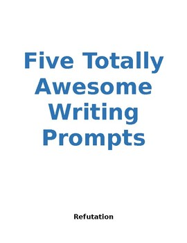 Five Totally Awesome Writing Prompts