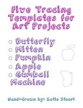 Five Tracing Templates for Art Projects