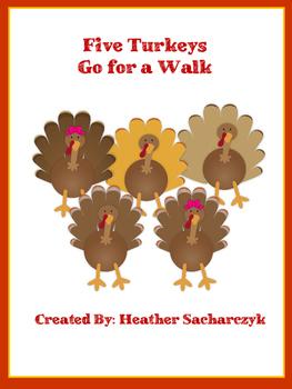 Five Turkeys Go for a Walk
